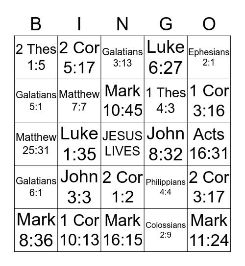 Women of Grace Bingo Card