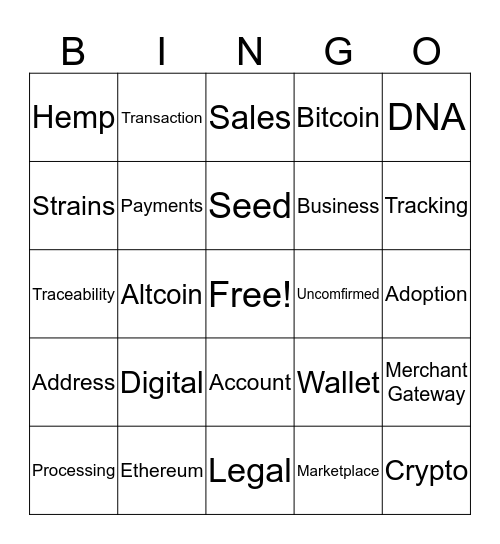 Tokes Bingo Card