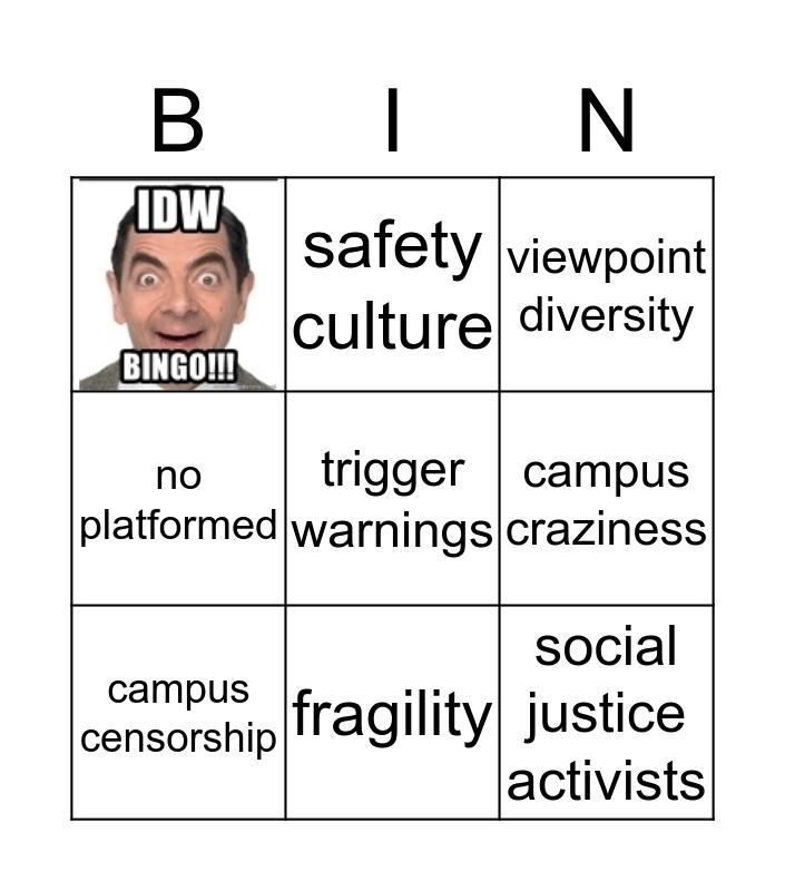 IDW BINGO Card