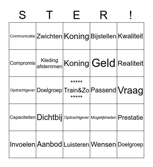 Klantgericht Werken! Bingo Card