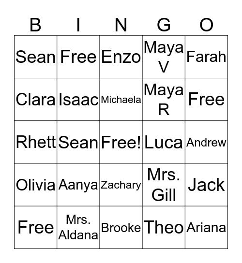 The Frogs Bingo Card
