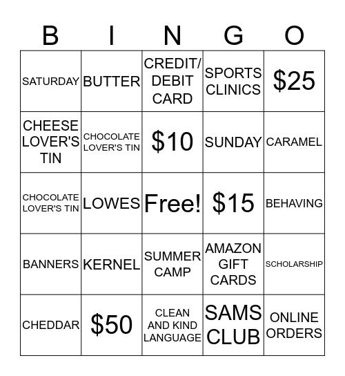 POPCORN Bingo Card