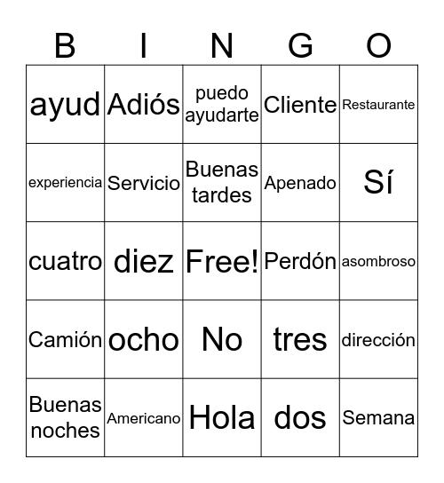 Bienvenido a Mexico Bingo Card