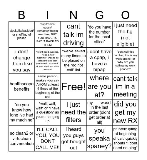 Lincare Effective Bingo Card