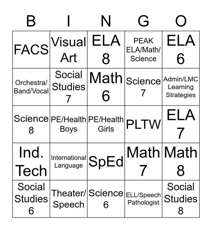 HMS Visible Learning  Bingo Card