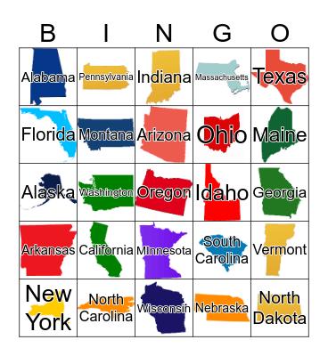 United States  Bingo Card