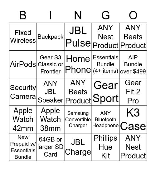US Cellular BINGO!! Bingo Card