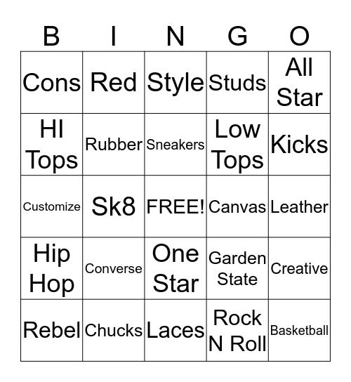All Star Bingo Card