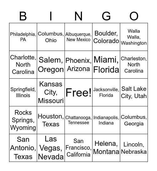 Latitude and Longitude Bingo  Bingo Card