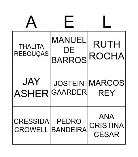 ACADEMIA ESTUDANTIL DE LETRAS Bingo Card