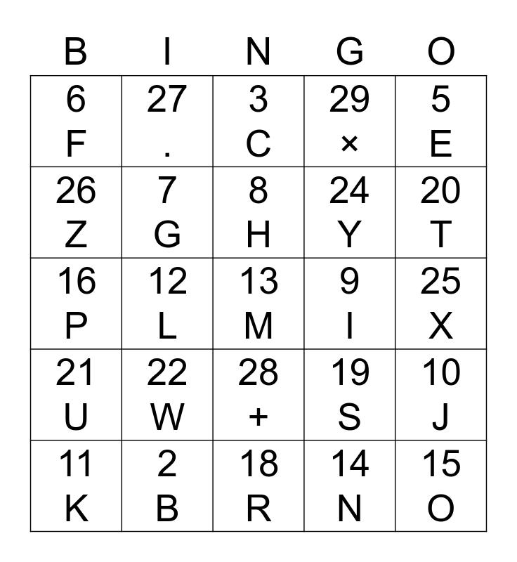 Trippies Bingo Card