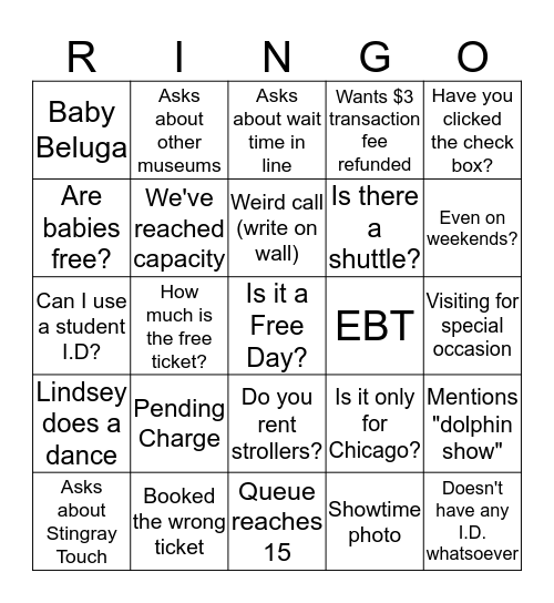 September Switchboard Ringo! Bingo Card
