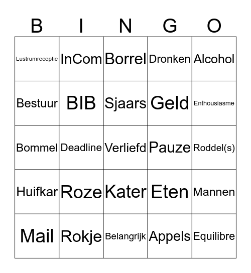 Vivezza's Bingo Verga Bingo Card