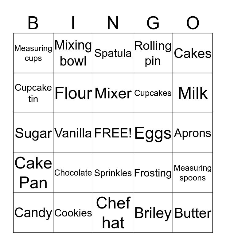Briley's Baking Bingo Card