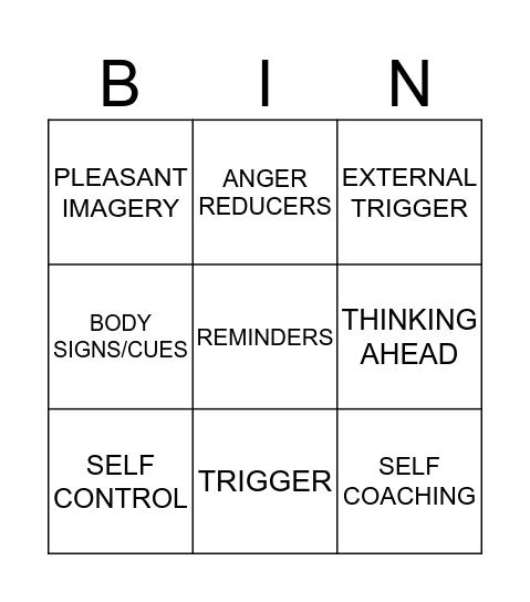 CONTROL CHAIN BING! Bingo Card