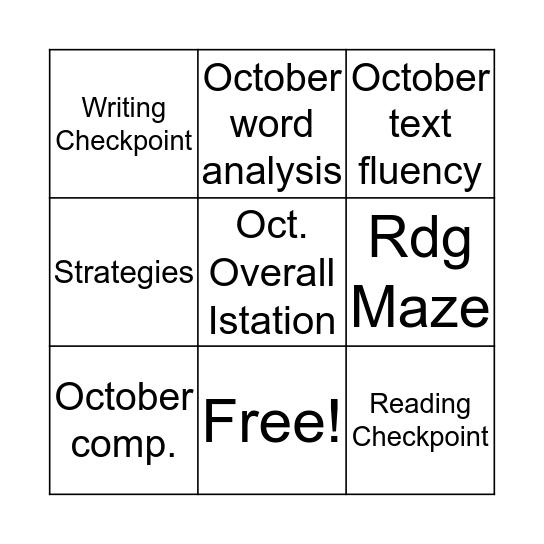 I Am Making Progress Bingo Card