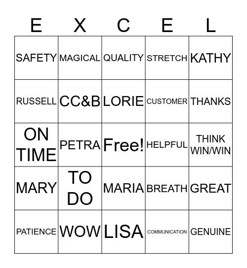 CUSTOMER SERVICE WEEK 2018 Bingo Card