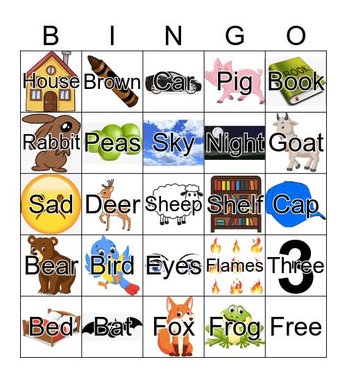 RhymeTime Bingo Card