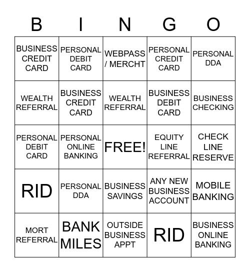 Discovery Bingo Card