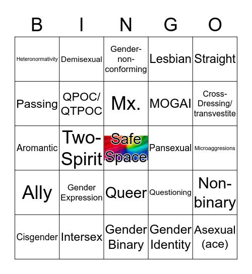 LGBTQ+ Terms Bingo Card