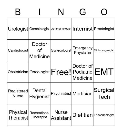 Career Bingo Card