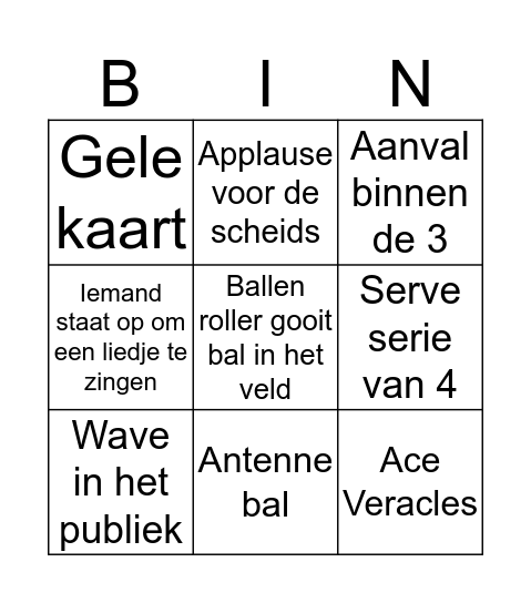 Met bingo app een selfie met kaart naar 0640635797 Bingo Card