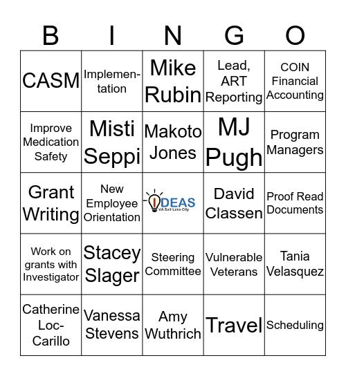 IDEAS GRID Bingo Card
