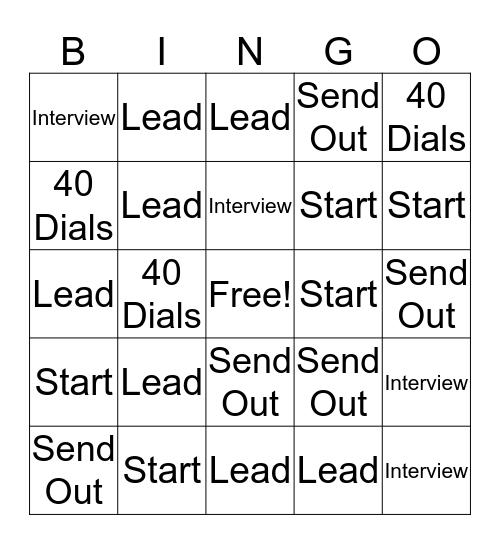 STL Recruiter Beacon Hill Bingo Card