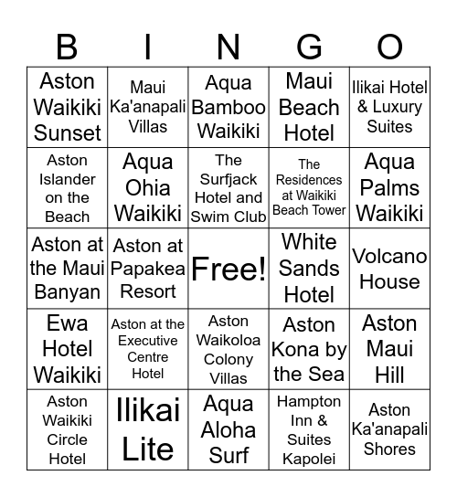Advantage BINGO Bonanza!!!! Bingo Card