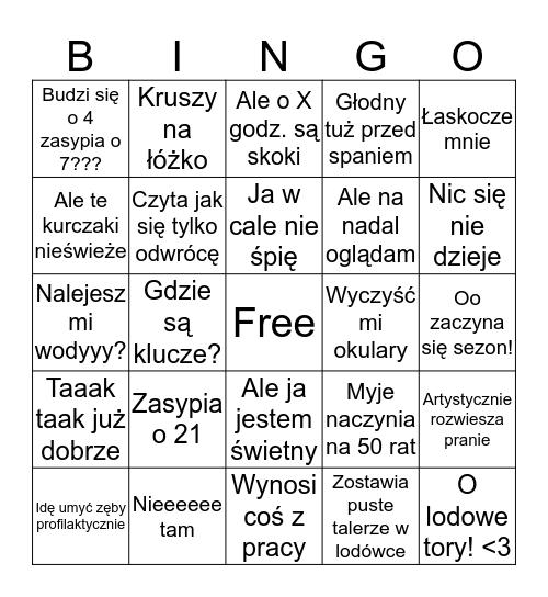 BINGO WIKTORA Bingo Card