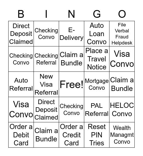 Contact Center BINGO Card