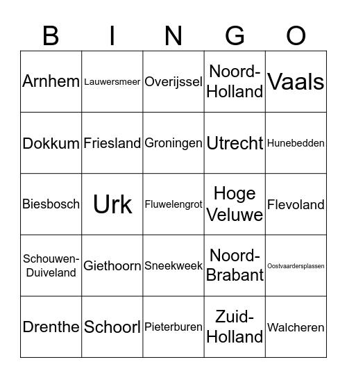 Topo Nederland Bingo Card