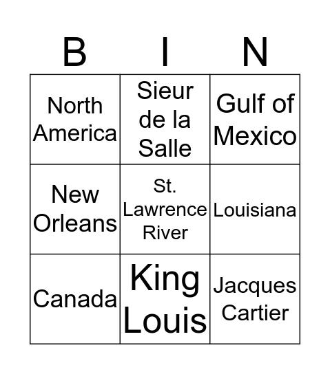 French Come To America Bingo Card