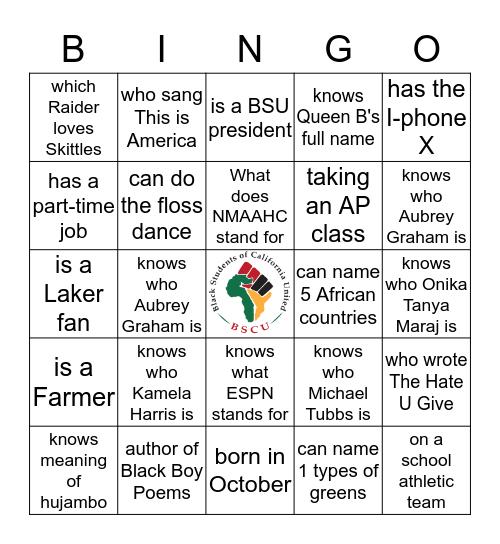 BSCU BINGO Card