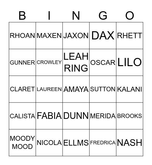 WINTER LAUNCH Bingo Card