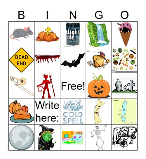 Vertaween Bingo Card
