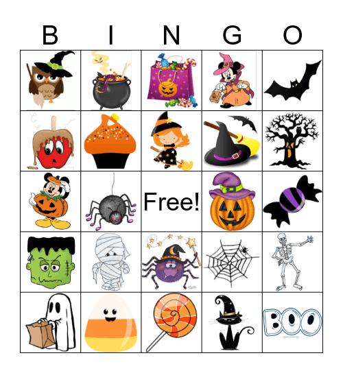 Halloween Bingo!  Bingo Card