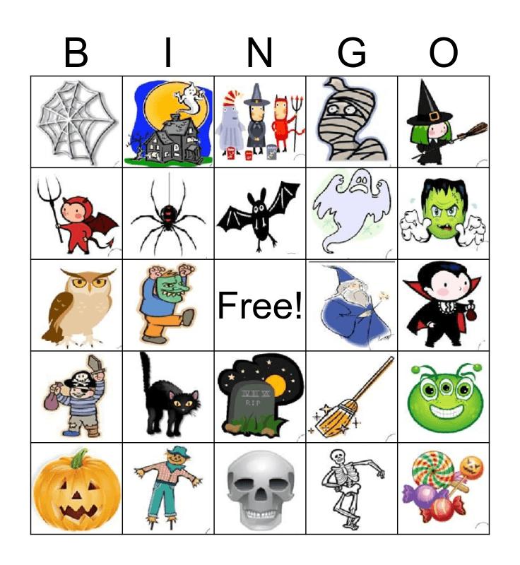 HALLOWEEN!!! Bingo Card