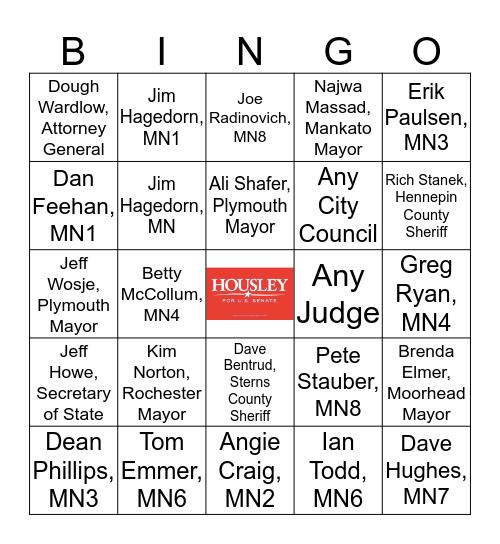 Campaign Sign Bingo Card