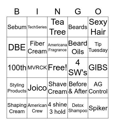 Sport Clips Bingo Card