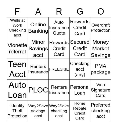FUN FRIDAY! Bingo Card