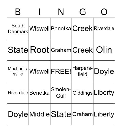 Covered Bridge Bingo  Bingo Card