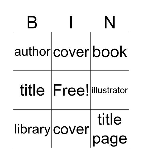 LIBRARY WORDS Bingo Card