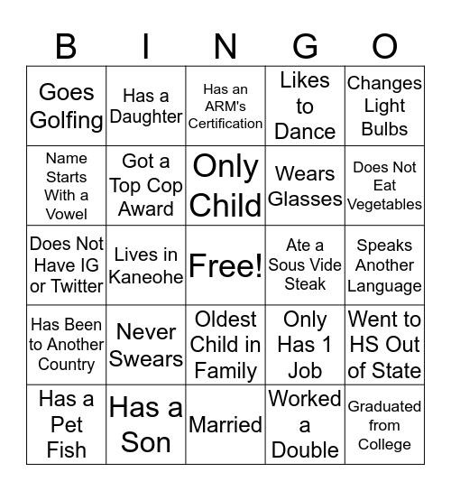 ONE Ala Moana Bingo Card