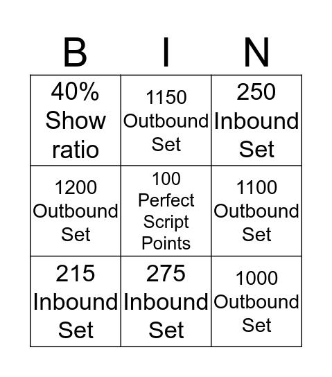 BDC Bingo Card