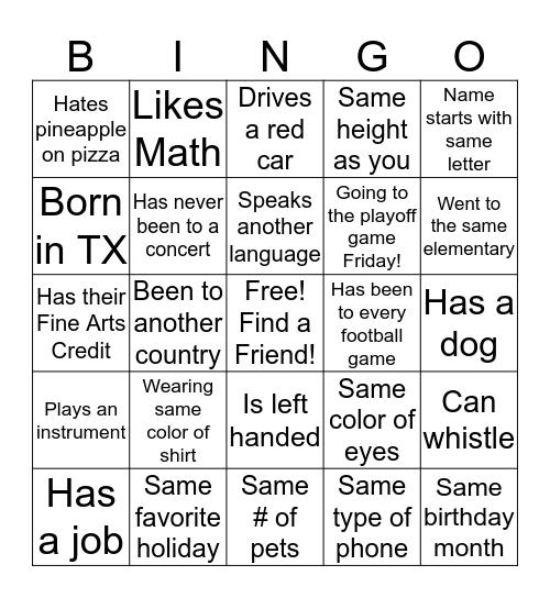 Make new friends this week! Share a pic on social media:      #LISDBeKind #LHSMeet&Tweet Bingo Card