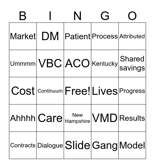 Friday Bingo Card