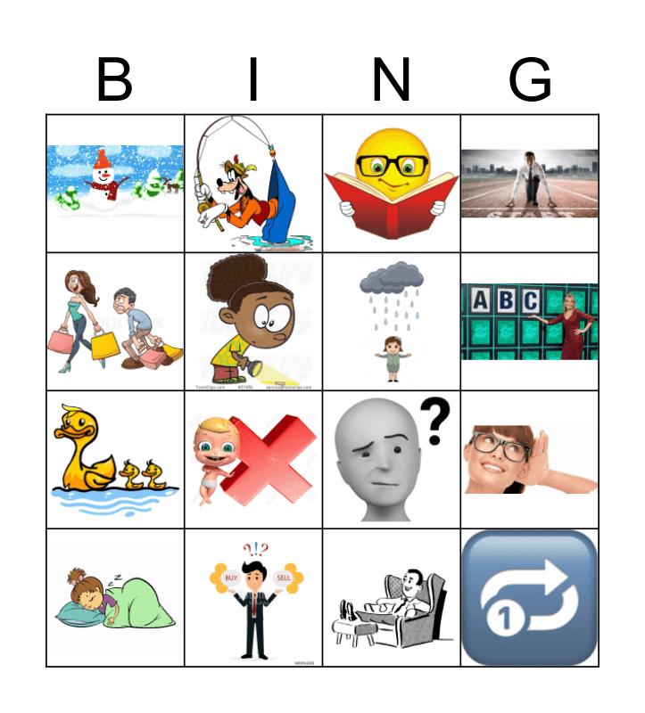 Spanish 101, lección 5  Bingo Card