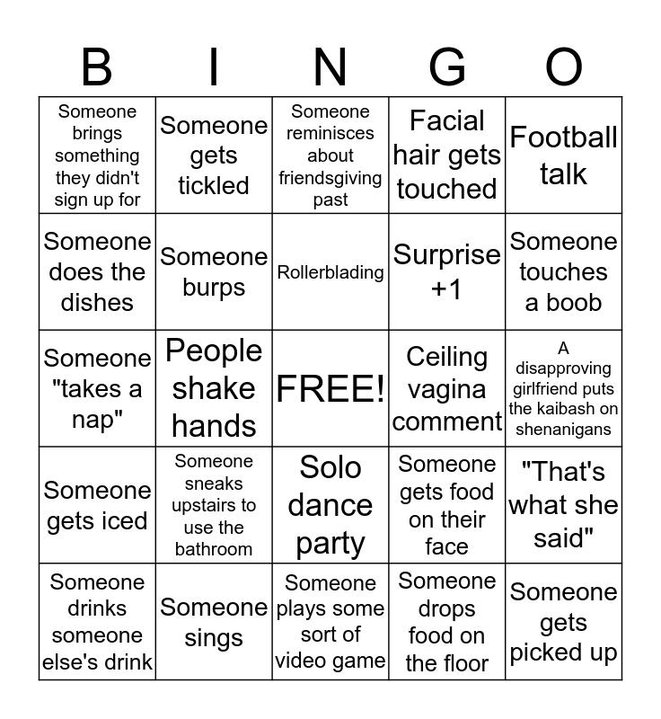 Friendsgiving Bingo Card