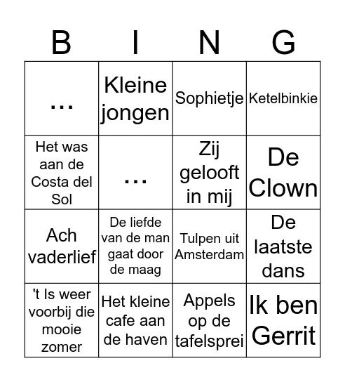 Bingo klein 2 Bingo Card